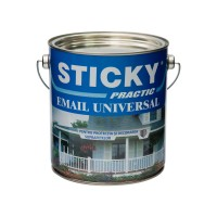Vopsea alchidica pentru lemn / metal, Sticky Practic, interior / exterior, galbena, 2.5 L