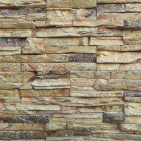 Piatra decorativa, interior / exterior, Montana 02, crem cu segmente maro, 0.6 mp