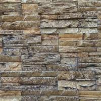 Piatra decorativa, interior / exterior, Montana 06, gri inchis cu segmente crem, 0.6 mp