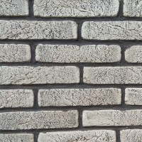Piatra decorativa, interior / exterior, Old Brick 01, alb cu fisuri negre, 1 mp