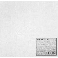 Tavan fals decorativ din polistiren T102 modern alb 50 x 50 x 1 cm