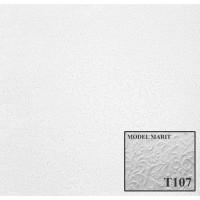 Tavan fals decorativ, polistiren expandat, T107, modern, alb, 50 x 50 x 1 cm