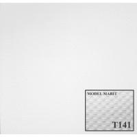 Tavan fals decorativ din polistiren T141 modern alb 50 x 50 x 1 cm