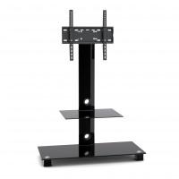 Stand TV LCD / LED, SerEnd T4003S, 2 rafturi, reglabil, 58 - 118 cm, 40 kg, sticla securizata + otel, 130 x 90 x 40 cm