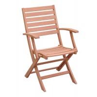 Scaun pentru gradina, pliant, TDC4006A, lemn, natur
