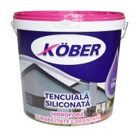 Tencuiala decorativa siliconata Kober Profesional, 1.5 mm, structurata, aspect scoarta de copac, cappuccino, interior / exterior, 25 kg