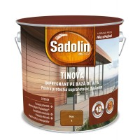 Impregnant pentru lemn Sadolin Tinova, nuc, pe baza de apa, exterior, 2.5 L