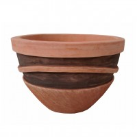 Ghiveci ceramic TC12.016.48.3, maro, rotund, 48 x 33 cm