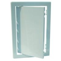 Usita vizitare, pentru instalatiile sanitare, Bellplast, albastru deschis, 15 x 15 cm