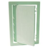 Usita vizitare, pentru instalatiile sanitare, Bellplast, verde deschis, 15 x 15 cm