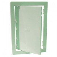 Usita vizitare, pentru instalatiile sanitare, Bellplast, verde deschis, 15 x 20 cm