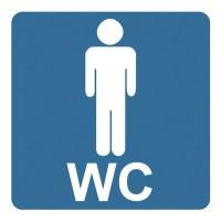 Indicator toaleta barbati Sun Prints, PVC, patrat, 10 x 10 cm