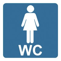 Indicator toaleta femei Sun Prints, PVC, patrat, 10 x 10 cm