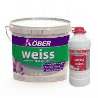Vopsea lavabila interior, Weiss V8611, alba, 15 L + amorsa 3 L