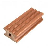 Sina WPC pentru dusumea din lemn compozit, maro,  K40 x 22 R, 4 x 2.2 x 300 cm