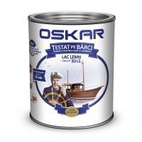 Lac pentru lemn Oskar Yacht, mahon inchis, interior / exterior, 0.75 L
