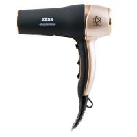 Uscator de par Zass ZHD 06, 1800 W - 2200 W, 2 viteze, 3 setari temperatura, functie ionizare si aer rece, negru cu maro
