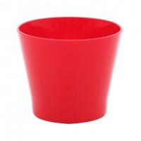 Ghiveci din plastic Zinnia, rosu D 16 cm