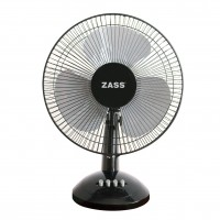 Ventilator de birou Zass ZTF 1202, 35 W, 3 viteze, diametru 30 cm, negru