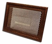Grila semineu, metalica, MK6AN, maro, 170 x 470 mm