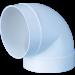 Cot pentru tub ventilatie, Vents, 90 grade, D 100 mm, 121 mm
