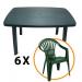 Set masa Faro + 6 scaune Altea, pentru gradina, verde, din plastic