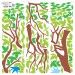 Sticker decorativ perete, camera copii, Copacul vietii, PT1454, 90 x 90 cm