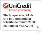 24 rate fara dobanda prin Unicredit