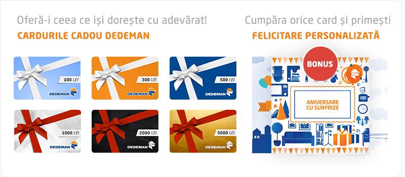 Cardurile cadou DEDEMAN