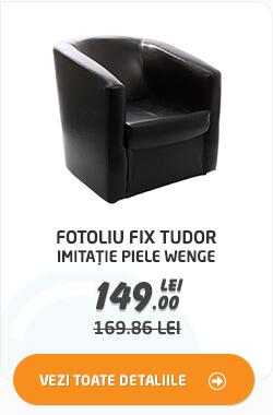Fotoliu fix Tudor imitatie piele wenge la 149 lei