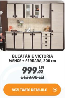 Bucatarie Victoria, wenge + ferrara, 200 cm 4C la 999.02 lei